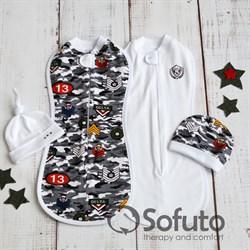 Комплект пеленок утепленный Sofuto Swaddler Military