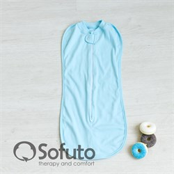 Пеленка на молнии Sofuto Swaddler Light blue