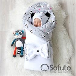 Комплект на выписку холодное лето (5 предметов) Sofuto baby magic Panda