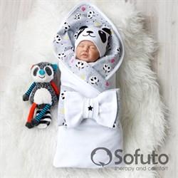 Комплект на выписку летний (4 предмета) Sofuto baby magic Panda