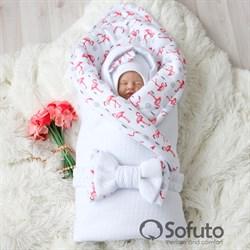 Комплект на выписку холодная зима (7 предметов) Sofuto baby Flamingo