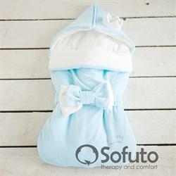 Конверт велюровый для новорожденного Sofuto Blue