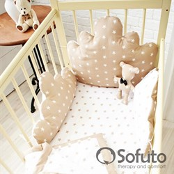Комплект бортиков Sofuto Babyroom BCL-SCL2 Latte