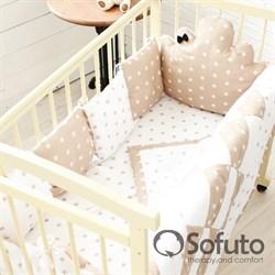 Комплект бортиков Sofuto Babyroom BCL-SCL-S8 Latte