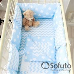 Комплект бортиков Sofuto Babyroom B2-S8-P Blue sky