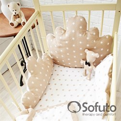 Бортик Sofuto Babyroom Cloud small Latte