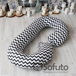 Подушка для беременных Sofuto CСompact Black waves