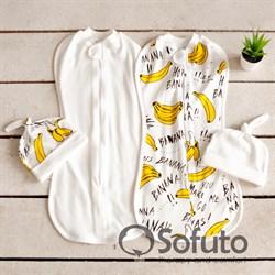 Комплект пеленок Sofuto Swaddler bananas
