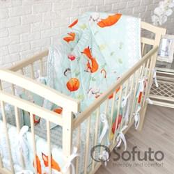Комплект бортиков + стеганое одеяло Sofuto Babyroom Cute fox