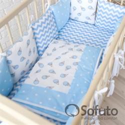 Комплект бортиков + стеганое одеяло Sofuto Babyroom Ice cream blue