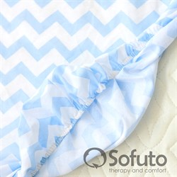 Простынь на резинке Sofuto Babyroom Stars and waves blue sky