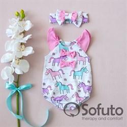Песочник с повязкой Sofuto baby Unicorn