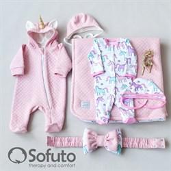 Комплект на выписку тёплая осень (6 предметов) Sofuto Unicorn