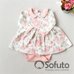 Боди детское с юбочкой Sofuto baby Vintage poudre