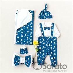 Комплект на выписку летний (5 предметов) Sofuto baby Mikky