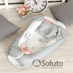 Кокон-гнездышко Sofuto Babynest Cute rabbit