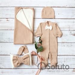 Комплект на выписку летний (5 предметов) Sofuto baby Latte boy