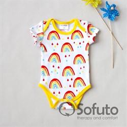Боди короткий рукав Sofuto baby Rainbow party