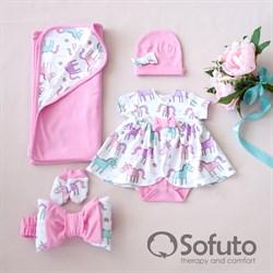 Комплект на выписку жаркое лето (5 предметов) Sofuto baby Unicorn