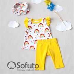 Комплект из туники с аксессуарами Sofuto baby Rainbow party