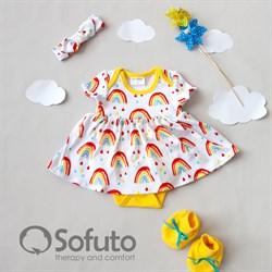 Комплект из боди-платья с аксессуарами Sofuto baby Rainbow party