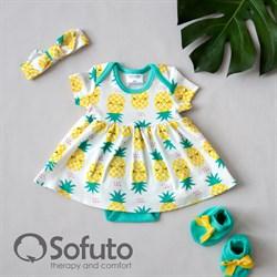 Комплект из боди-платья с аксессуарами Sofuto baby Pineapple