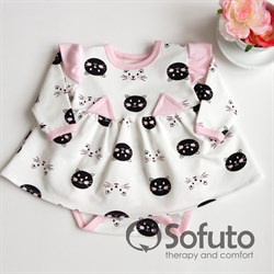 Боди детское с юбочкой Sofuto baby Kitty-kat