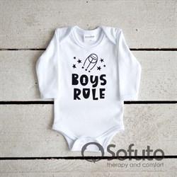 Боди детское Sofuto baby Boys rule