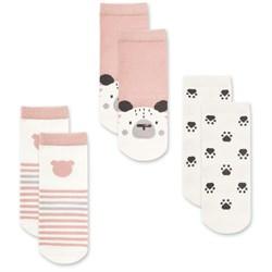"Носочки 3 пары ""Медвежонок Макс"" трикотаж розовый"