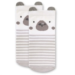 "Носочки 1 пара ""Медвежонок Макс"" трикотаж серый"