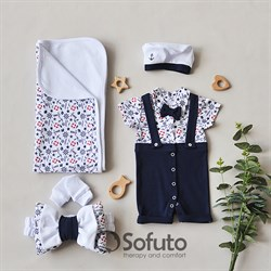 Комплект на выписку жаркое лето (5 предметов) Sofuto baby Sailor