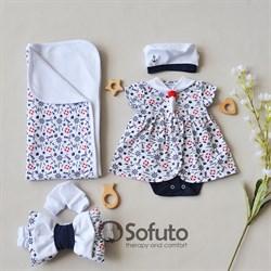 Комплект на выписку жаркое лето (5 предметов) Sofuto baby Sailor girl
