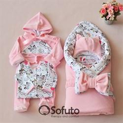 Комплект на выписку демисезонный (6 предметов) Sofuto baby Caticorn