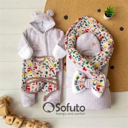 Комплект на выписку холодная зима (6 предметов) Sofuto baby animal travel