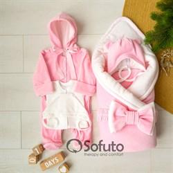 Комплект на выписку зимний (6 предметов) Sofuto baby Rose simple
