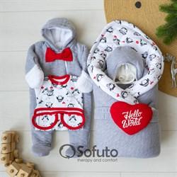 Комплект на выписку холодная зима (6 предметов) Sofuto baby lol
