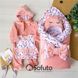 Комплект на выписку зимний (6 предметов) Sofuto baby Valvina