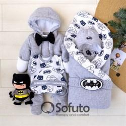 Комплект на выписку холодная зима (6 предметов) Sofuto baby Batman