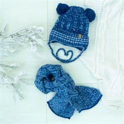 Комплект 38-443 шапка подклад флис+шарф