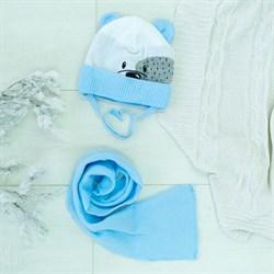 Комплект 38-422 шапка подклад флис+шарф