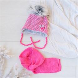 Комплект 38-403 шапка подклад флис + шарф