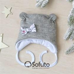 Шапочка зимняя вязаная Sofuto baby Melange Veresk
