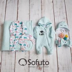 Комплект на выписку холодное лето (6 предметов) Sofuto Little girl