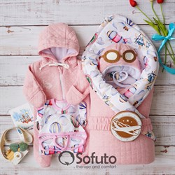 Комплект на выписку демисезонный (6 предметов) Sofuto baby Amelia
