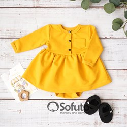 Боди детское с юбочкой Sofuto baby Urban Mustard