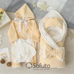 Комплект на выписку демисезонный (6 предметов) Sofuto baby Milk Stars