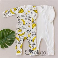 Набор слипов на молнии Sofuto kids Bananas
