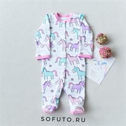 Слип на кнопках Sofuto baby Unicorn