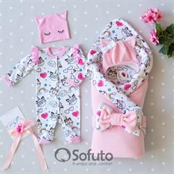 Комплект на выписку холодное лето (5 предметов) Sofuto baby Caticorn