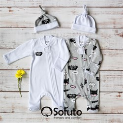 Набор слипов на молнии Sofuto baby Supercat